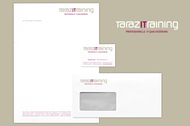 Tarazi Training Corporate Design 1