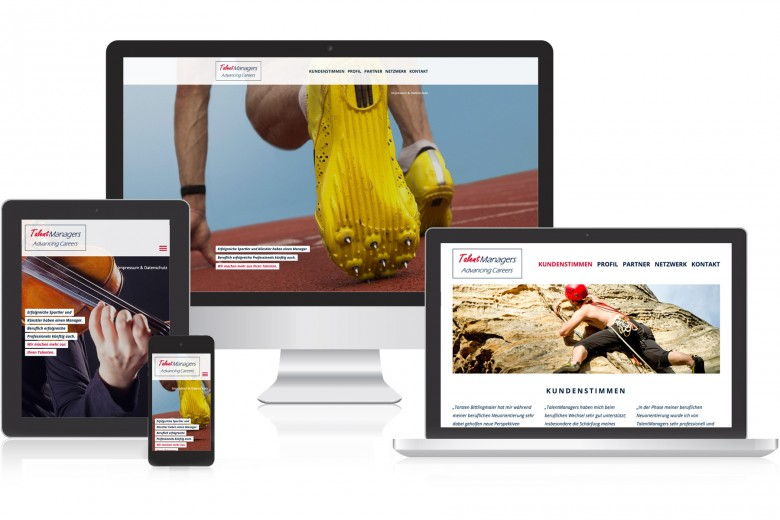 Talent Manager responsive Website